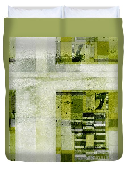 Duvet Cover featuring the digital art Abstractitude - C4bv2 by Variance Collections
