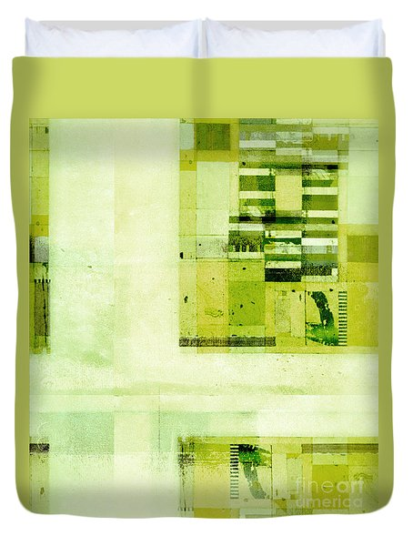 Duvet Cover featuring the digital art Abstractitude - C4v by Variance Collections