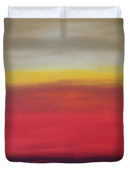 Abstract_sunset Duvet Cover