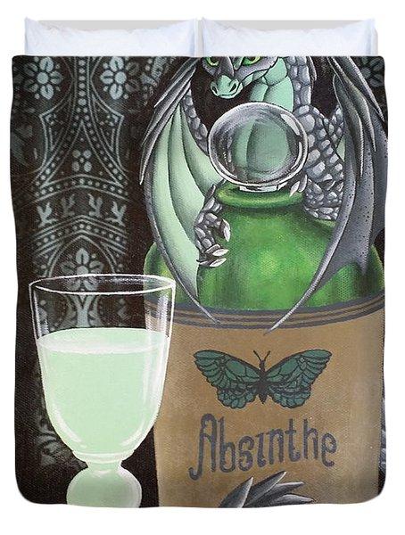 Absinthe Dragon Duvet Cover