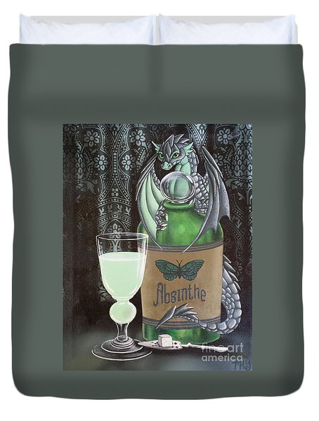 Absinthe Dragon Duvet Cover