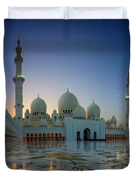 Abu Dhabi Grand Mosque Duvet Cover
