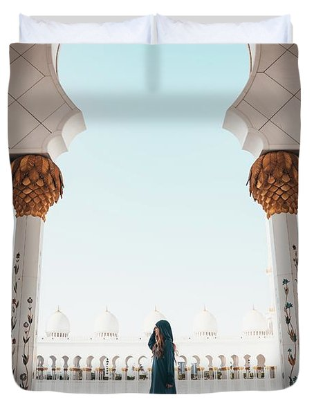Abu Dhabi Mosque Duvet Cover