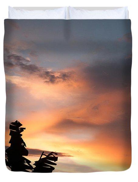 Abuja Sunset Duvet Cover by Hakon Soreide