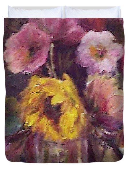 Abundance- Floral Painting Duvet Cover