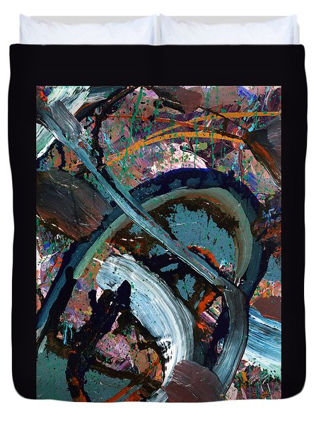 Abyss  Duvet Cover by Erika Pochybova