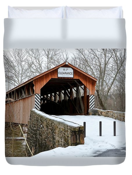 Academia Covered Brigde Duvet Cover