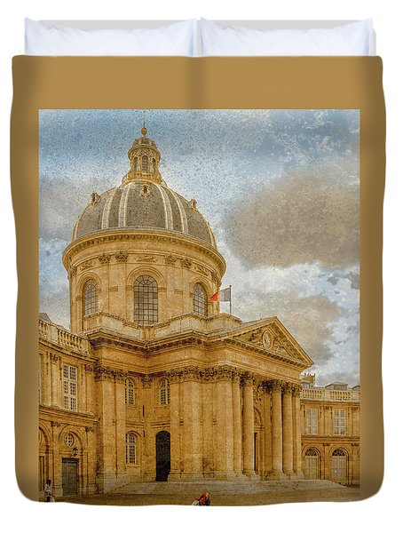Paris, France - Academie Francaise Duvet Cover
