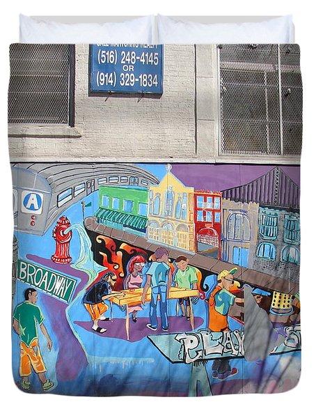 Academy Street Mural Duvet Cover