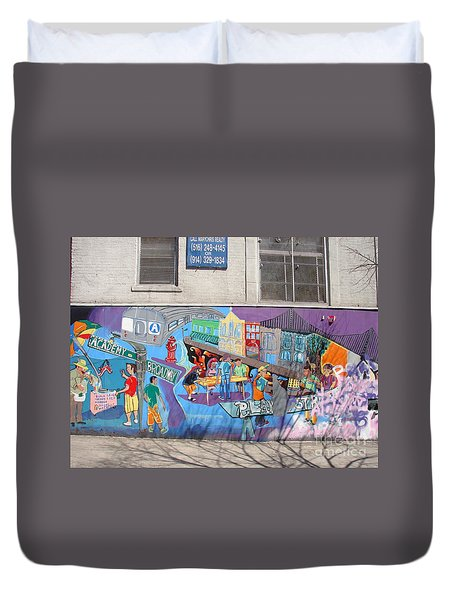 Academy Street Mural Duvet Cover by Cole Thompson