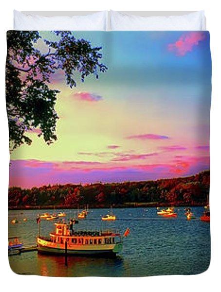 Acadia Bar Harbor Sunset Cruises.tif Duvet Cover
