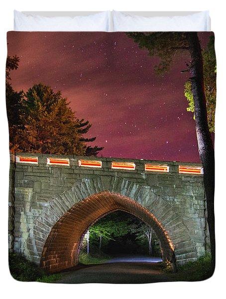 Acadia Carriage Bridge Under The Stars Duvet Cover