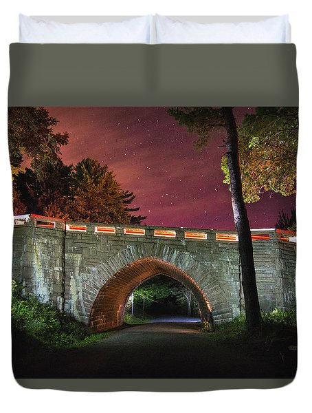 Acadia Carriage Bridge Under The Stars Duvet Cover