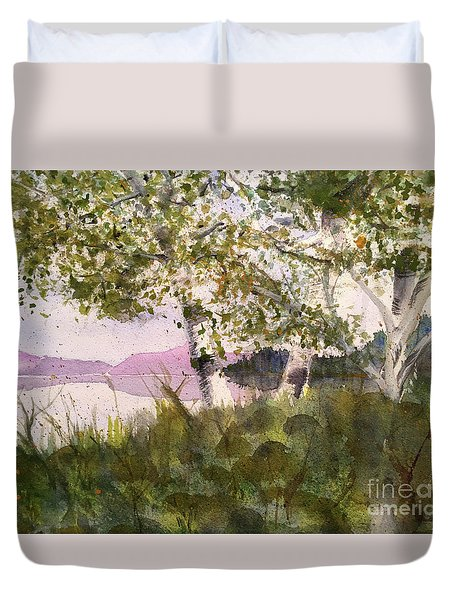 Acadia Morning Duvet Cover by Maura Satchell