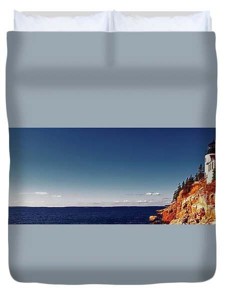 Acadia, National Park, Light House, Maine  Duvet Cover
