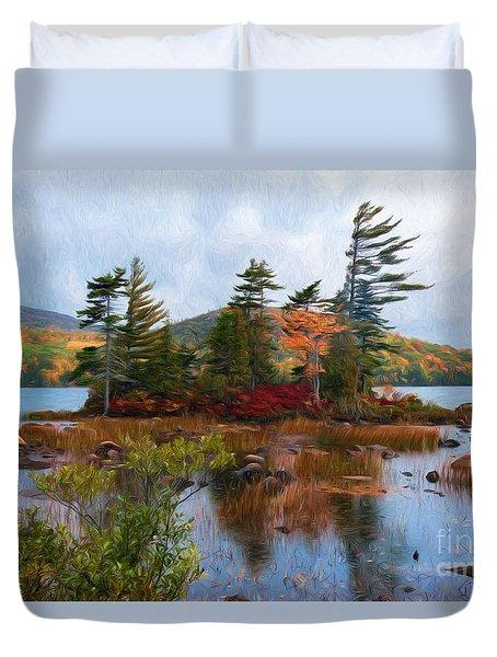 Acadia National Park Duvet Cover by Sharon Seaward