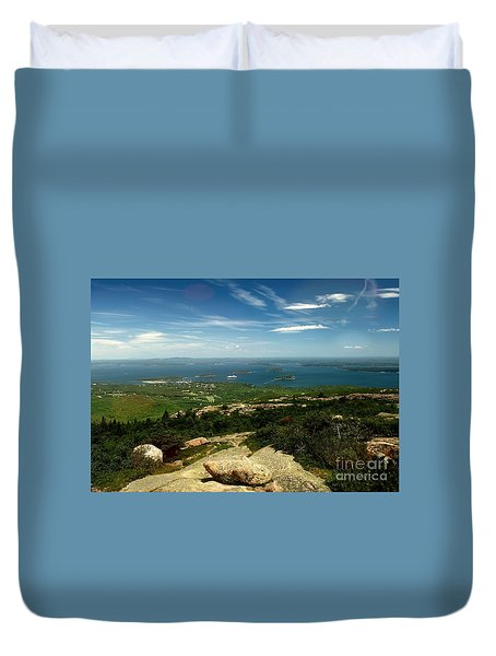 Duvet Cover featuring the photograph Acadia by Raymond Earley