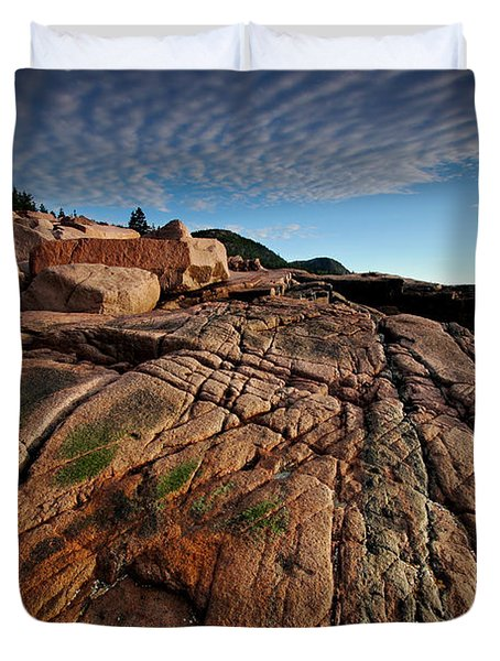 Acadia Rocks Duvet Cover