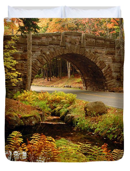 Acadia Stone Bridge Duvet Cover by Alana Ranney
