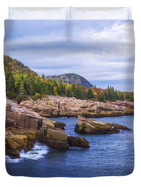 Acadia's Coast Duvet Cover