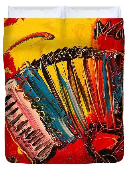 Accordeon Duvet Cover by Mark Kazav
