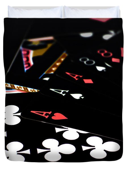 Aces And Eights Duvet Cover