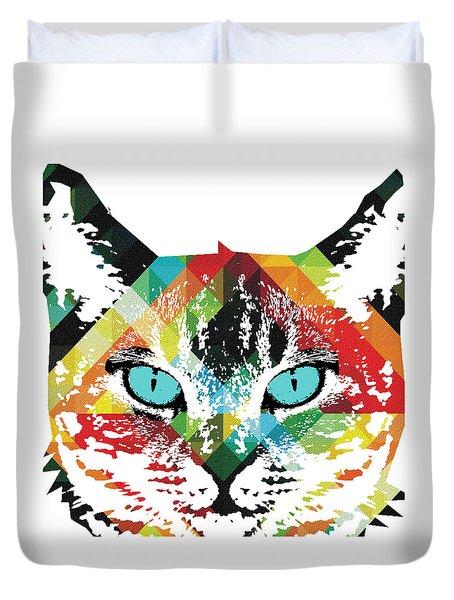 Acid Cat Dream By Robert R Duvet Cover