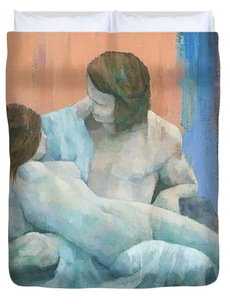 Acis And Galatea Duvet Cover