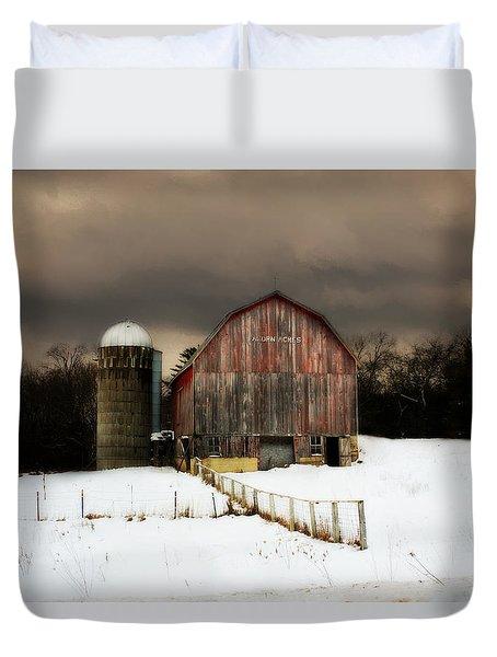 Duvet Cover featuring the photograph Acorn Acres by Julie Hamilton