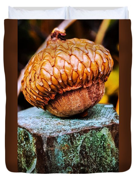 Duvet Cover featuring the photograph Acorn by Bruce Carpenter