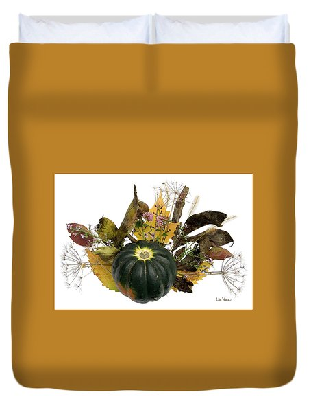 Acorn Squash Bouquet Duvet Cover by Lise Winne