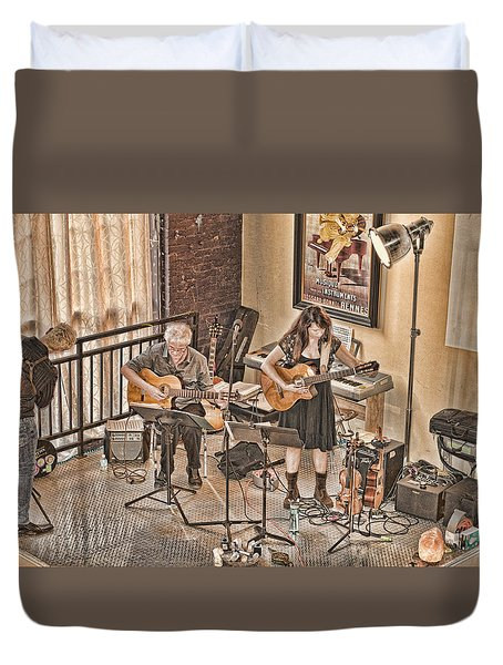 Duvet Cover featuring the photograph Acoustic Jazz by Anthony Baatz
