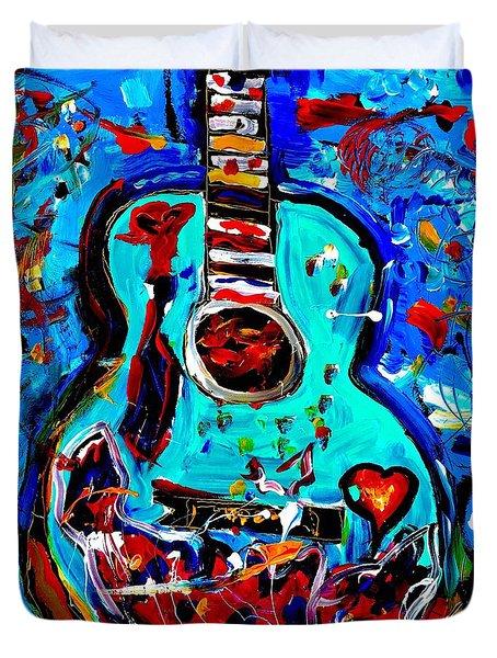 Acoustic Love Guitar Duvet Cover