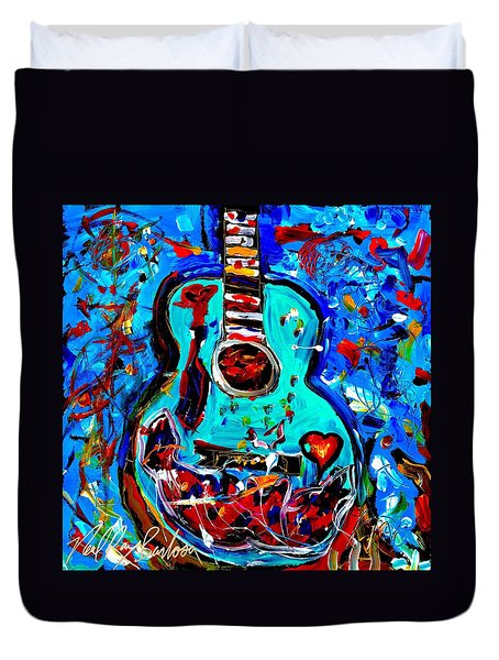 Acoustic Love Guitar Duvet Cover