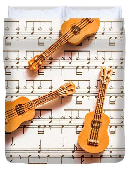 Acoustic Quartet Duvet Cover