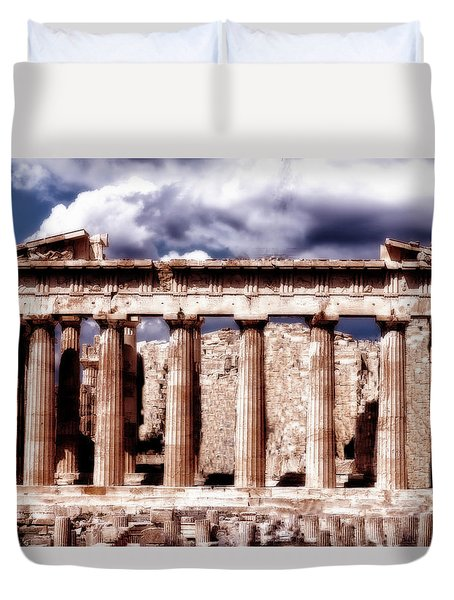 Acropolis Of Greece Duvet Cover