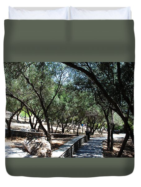 Acropolis Trail Duvet Cover by Robert Moss