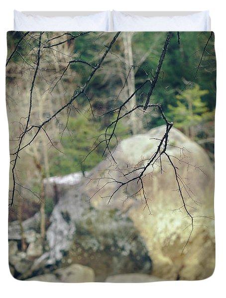 Across From Eagle Falls Duvet Cover