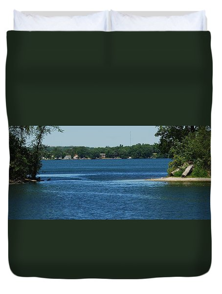 Duvet Cover featuring the photograph Across The Bay by Ramona Whiteaker