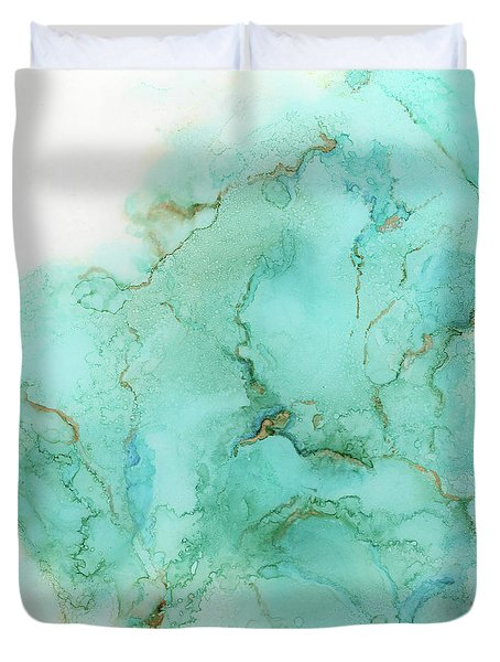 Across The Blue Sky Duvet Cover