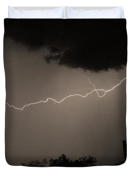 Across The Desert - Sepia Print Duvet Cover by James BO  Insogna