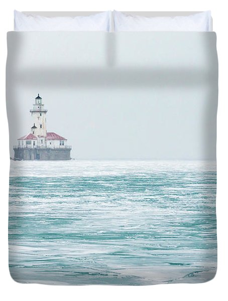 Across The Frozen Lake Duvet Cover