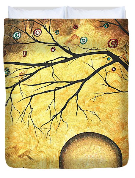 Across The Golden River By Madart Duvet Cover by Megan Duncanson