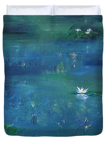 Across The Lily Pond Duvet Cover