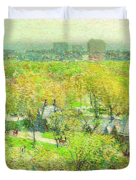 Across The Park Duvet Cover