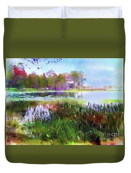 Across The Pond Duvet Cover