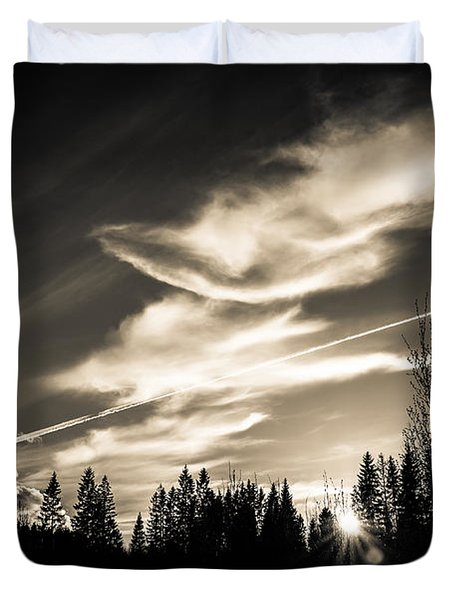 Across The Sky Duvet Cover