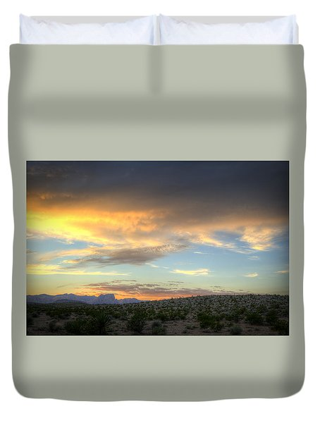 Across The Street Duvet Cover