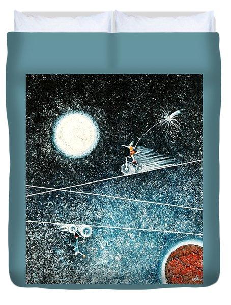 Across The Universe Duvet Cover by Graciela Bello