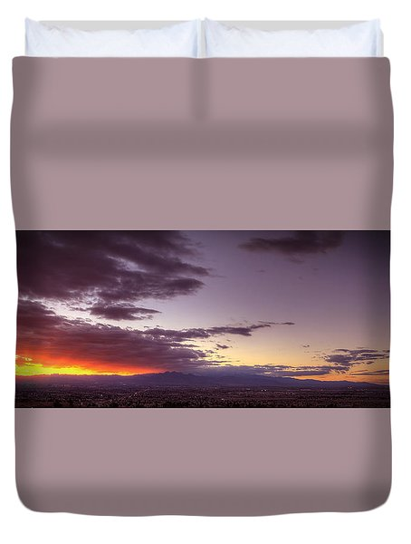 Across Vegas Sunset Duvet Cover